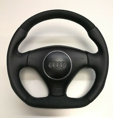 Flat Bottom Steering Wheel  A2 A3 A4  Tt A6 A8 Allroad ! Alcantara And Leather