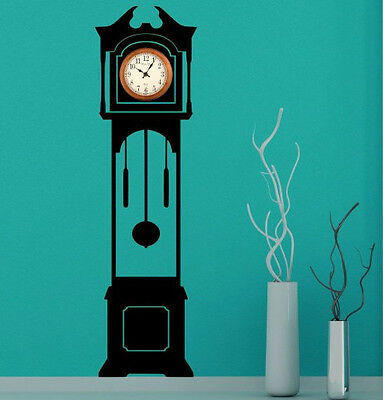 Grandfather Clock Silhouette Decal - Clock Background. Wall Stickers Decor. New!