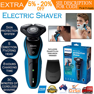 Philips S5050 AquaTouch Wet/Dry/Electric Shaver/Trimmer/Cordless/Rechargeable