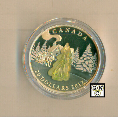 2017 Snow-Covered Trees(Murano Glass)Prf $20 Silver 1oz .9999 Fine(17860) (OOAK)