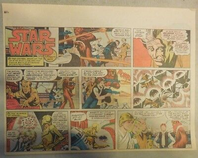 Star Wars Sunday Page #51 by Russ Manning from 2/24/1980 Large Half Page Size!