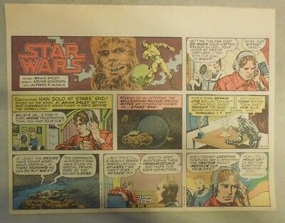 Star Wars Sunday Page by Alfredo P. Alcala from 12/14/1980 Large Half Page Size!