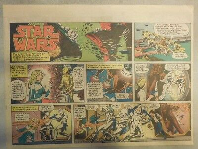 Star Wars Sunday Page #49 by Russ Manning from 2/10/1980 Large Half Page Size!