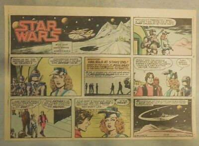 Star Wars Sunday Page by Alfredo P. Alcala from 10/12/1980 Large Half Page Size!