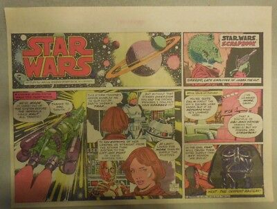Star Wars Sunday Page by Al Williamson from 7/26/1981 Large Half Page Size!