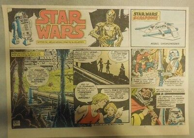 Star Wars Sunday Page by Al Williamson from 9/27/1981 Large Half Page Size!
