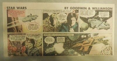 Star Wars Sunday Page by Al Williamson from 4/5/1981 Third Page Size!