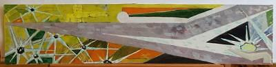 RUSSIA VINTAGE ORIGINAL GOUACHE  AVANT-GARDE ABSTRACT USSR PAINTING '70s