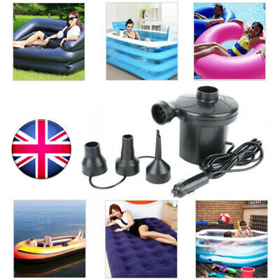 240V Electric Air Pump Paddling Pool Air Bed Inflator Toy Games Tubs Garden