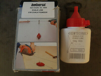 Chalk Line Set 30m, Red Chalk Heavy Duty metal body like Stanley  FatMax