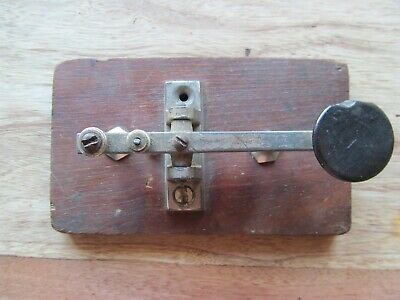Antique Code Morse Key For Parts