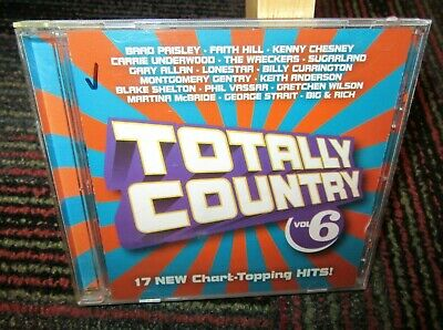 Totally Country: Volume 6 Music Cd, 17 Hit Tracks, Paisley, Hill, Chesney, +