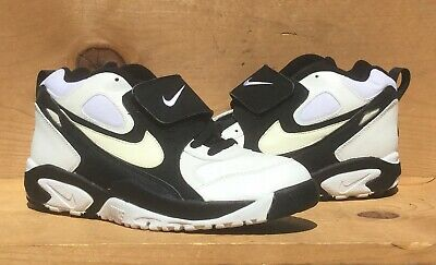 5037e19329 Vintage 1995 Nike Air Grid Mid Trainer Leather White/Black Size 11 Read Ad