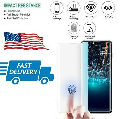 Full Cover Case Friendly Tempered Glass Screen Protector For Samsung Galaxy s10