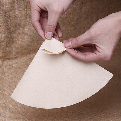 40x Fan-shaped Coffee Filter Paper Half-Moon Circles For Chemex CM-1 (1-3Cups)#