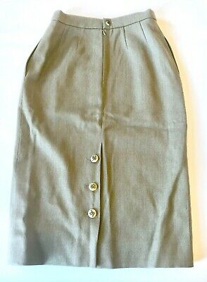1d0c5f3e63 Authentic Vintage Hermes Skirt - 100% Wool Pencil Skirt with Amazing Buttons
