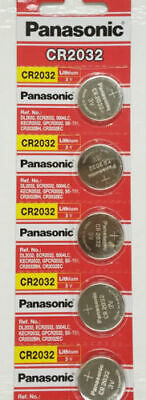 5 x Fresh PANASONIC CR2032 2032 3V Lithium Coin Battery Expiration date 2028