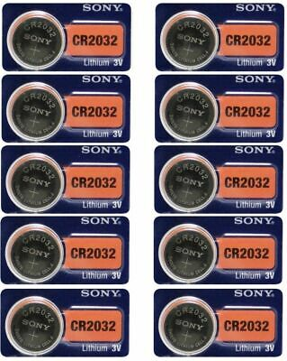 10 Packs Sony CR2032 2032 DL2032 3V Button Lithium Coin Battery EXP 2028
