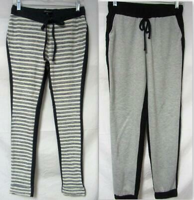 Shinestar Womens Size Medium Contrast Joggers ~Striped or Solid~ A1 2185