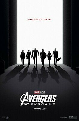 Avengers End Game Whatever It Takes Marvel Large Teaser Movie Poster 20X30 24X36