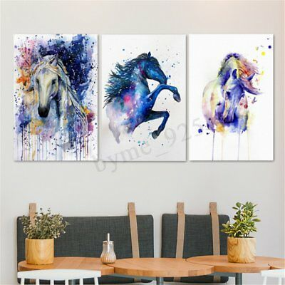 Watercolour Fairy Horse Picture Canvas Unframed Painting Abstract Wall Art Decor
