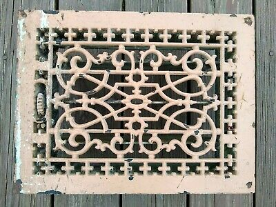 Tuttle And Bailey Cast Iron Vents Covers Ornate Grates Registers 14x10 Vtg Home