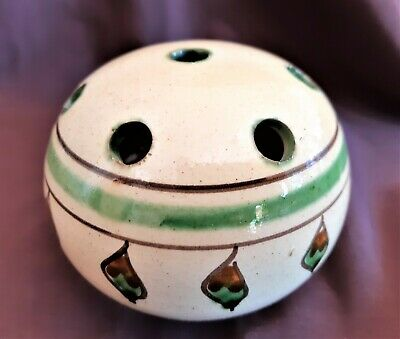 Vintage Australian Pottery Frog Vase Insert Flower Arranger Gum Leaf Decoration