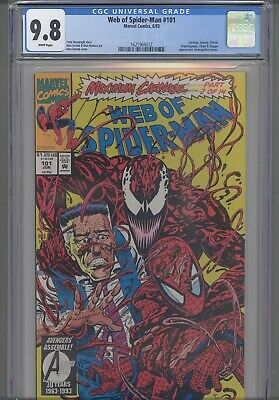 Web of Spider-Man #101 CGC 9.8 1993 Marvel Maximum Carnage Part 2: New Frame