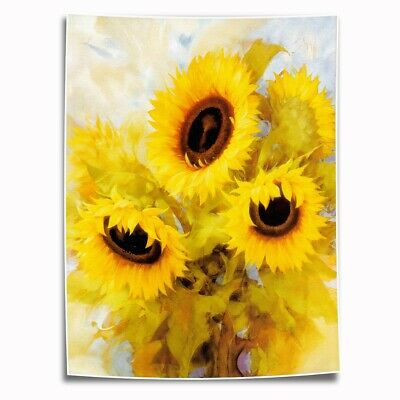 Abstract Sunflower HD Canvas Print Painting Home Decor room Wall Art Picture