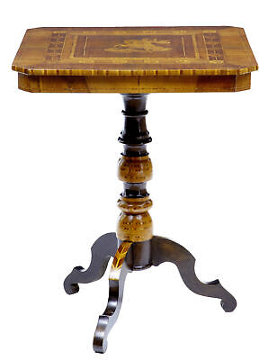Late 19Th Century Italian Walnut Sorrento Occasional Table