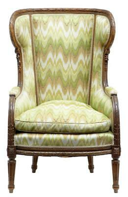 19Th Century French Walnut Wing Back Armchair