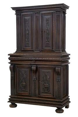 19Th Century Impressive French Carved Walnut Cabinet