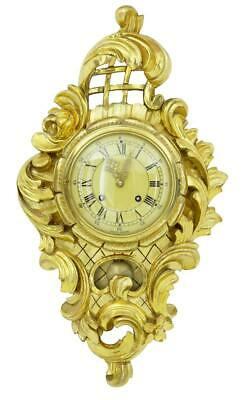 20Th Century Carved And Gilt Ornate Wall Clock Hasselblad Movement