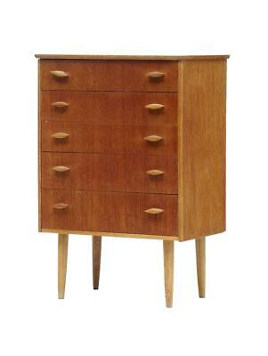 SMALL DANISH 1960's TEAK CHEST OF DRAWERS