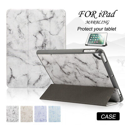 "Smart Magnetic Marble Case for iPad Mini 5th 7.9"" 2019 Tri-fold Stand Flip Cover"
