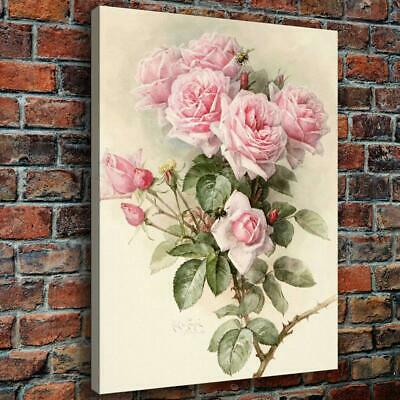 "12""x16""Pink Rose Photos HD Canvas Prints Paintings Home Decor Wall Art Picture"