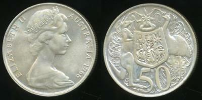 1966 50 Cent 80% Silver 50c Round Great Condition Fifty Cent