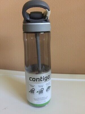 Contigo AUTOSPOUT Ashland 24oz Plastic Water Bottle with Flip Straw Smoke Grey