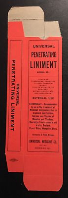 """1930's or Earlier Universal Penetrating Liniment Box Unused """"ONLY ONE"""""""