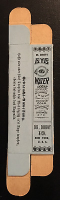 """1930's or Earlier Dr. Duroy Eye Water w/a EYE on the Box Unused """"ONLY ONE"""""""