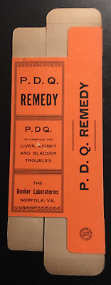 """1930's or Earlier P.D.Q. Remedy Box Unused """"ONLY Three"""""""
