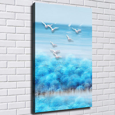 "12""x18""Seagull Photos HD Canvas Print Painting Home Decor room Wall Art Picture"
