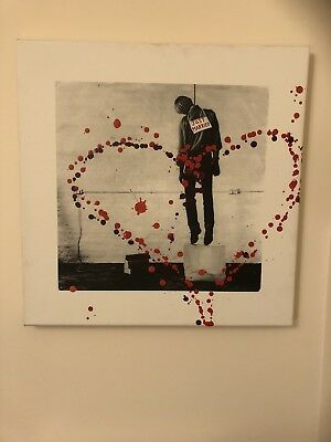 Edward Just Married Signed Canvas of 10 Hand Finished by Goldie +COA Banksy Stik