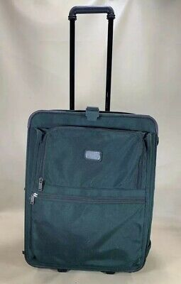 "Used Tumi Made In USA Green Ballistic 22"" Upright Vertical Wheeled Garment Bag"