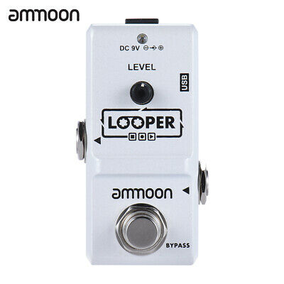 ammoon Nano Series Loop Electric Guitar Effect Pedal Looper with USB Cable F8C5