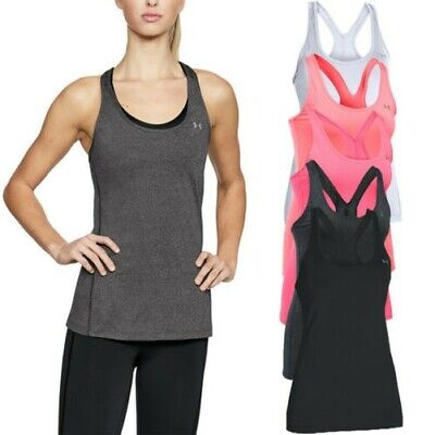 4da017ca78dd9 Under Armour Womens UA HeatGear armour Racer Tank Sport Gym Fitness Top