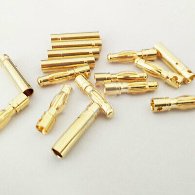 Lots 4mm Gold-plated Bullet Banana Plug Male & Female Connector for RC sda