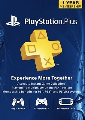 PlayStation Plus Membership Card - 12 Month - Digital - FAST DELIVERY !