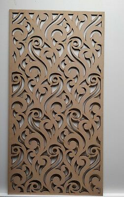 Radiator Cabinet decor. Screening Perforated 3mm & 6mm thick MDF laser cutZ2