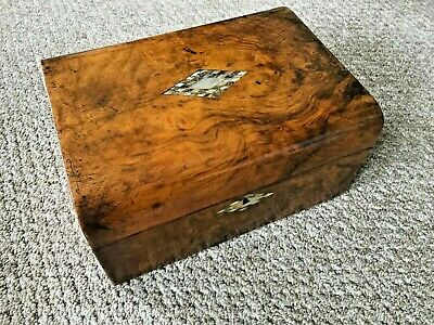 Vintage Antique Victorian Writing Slope Lap Desk Box Tunbridge Ware C1800's